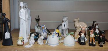 A quantity of mixed Royal Worcester, Lladro, Wade, Spode, Doulton etc