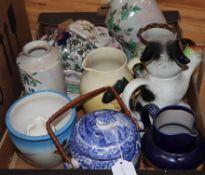 A quantity of mixed Doulton, Spode Italian and Shelley ceramics