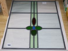 A stained glass panel 58 x 46cm