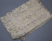 A 1920's metal thread Egyptian shawl