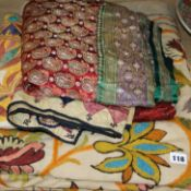 A group of mixed Indian wall hangings / textiles