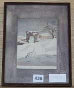 Eric Slater (1896-1963), watercolour, 'The Pipewell Gate, Winchelsea', signed and inscribed in