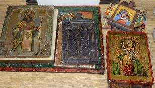 A group of nine religious icons and artefacts