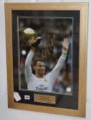 Cristiano Ronaldo, signed photograph and certificate