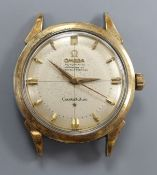 A gentleman's 1950's steel and gold plated Omega Constellation automatic wrist watch, movement c.