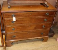 A small 19th century style mahogany chest fitted four long drawers W.90cm