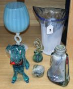 A collection of mostly Murano glass (6)