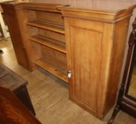 A Victorian pine dresser top section W.222cm
