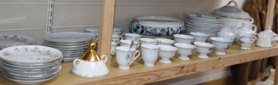 A quantity of tea wares including German and Polish