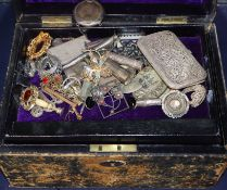 Mixed jewellery etc. including 585 ring, 9ct bar brooch gold, small silver and white metal items and