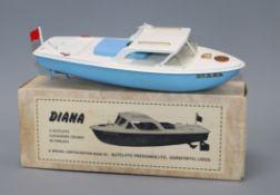 A Sutcliffe Diana cruiser model, boxed