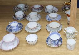 A collection of miscellaneous English and Chinese porcelain tea bowls, saucers, coffee cans and