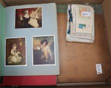 A 20th century scrapbook containing numerous greeting cards and sundry other ephemera