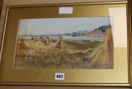 19th century, three watercolours, River landscapes, unsigned, largest 22 x 31cm