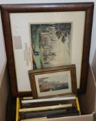 A group of Brighton prints, etchings etc.