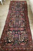 A Hamadan hall carpet 108 x 300cm