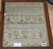 A 19th century sampler, dated 1800