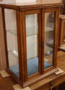 A small late Victorian glazed display case W.39cm