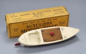 A Sutcliffe Minx speed boat model, boxed