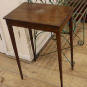 A George III mahogany rectangular occasional table W.51cm