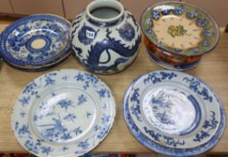 A collection of Delft and other pottery