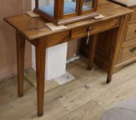 A 19th century French fruitwood side table W.100cm