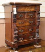 A Victorian mahogany miniature chest W.50cm