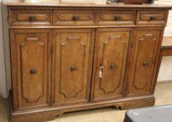 An Italian walnut sideboard (modifications) W.172cm