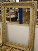 A large early Victorian gilt and composite picture frame
