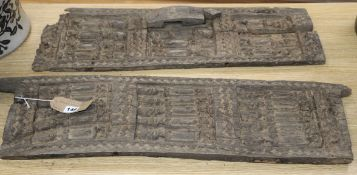 Two African wooden carved doors