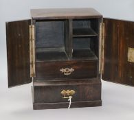 A 19th century coromandel and brass mounted table cabinet height 36.5cm