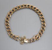 A 9ct gold curblink bracelet.