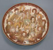 A large Satsuma 'rakan' dish diameter 30cm
