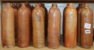 A large collection of Austro-German salt glazed stoneware seltzer mineral water bottles (approx.