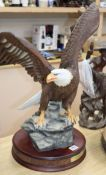 A majestic Bald Eagle figure