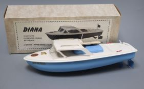 A Sutcliffe Diana model, boxed length 31cm