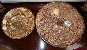 Two Spanish lustre dishes