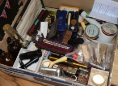 A quantity of Victorian and later opthalmic instruments etc
