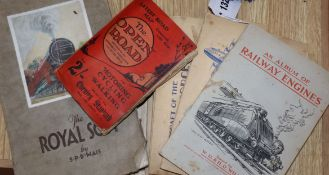 A quantity of railway related cigarette cards