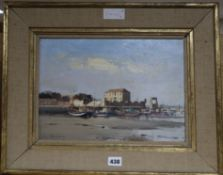 Ian Houston (1934-) oil on board, 'Low tide, Peniche', signed and dated 1974, 25 x 35cm