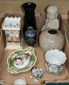 A quantity of mixed European ceramics and glass