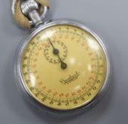 A chrome cased Hanhart 3 Steine stopwatch.