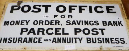 A Post Office enamel sign 66 x 31cm