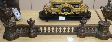 A 19th century French gilt metal adjustable firepiece height 26cm