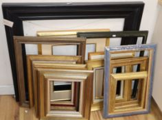 Thirteen assorted picture frames