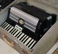 A cased Pigliacampo accordian