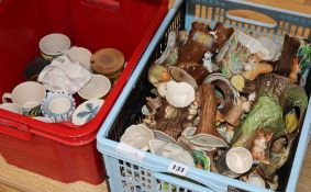 A collection of Hornsea ceramics