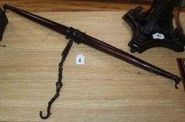 A pair of 19th century Indian hardwood and bronze scales
