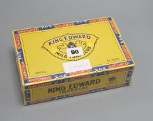 A sealed box of 50 King Edward Imperial cigars