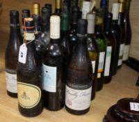Twenty nine various bottles of mixed wines